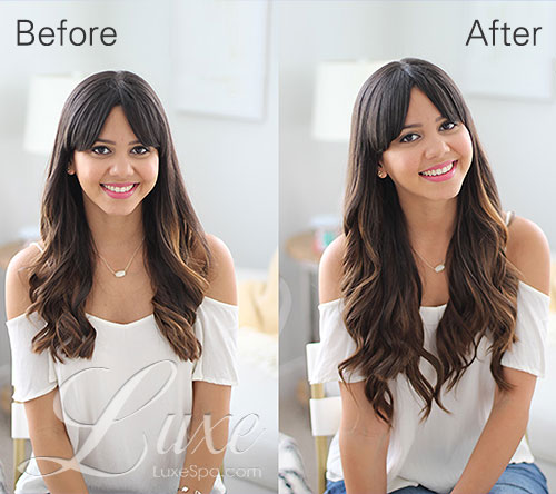 Luxe Hair Extensions Before and After