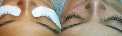 Luxe Eyelash Extensions client before and after horizontal.